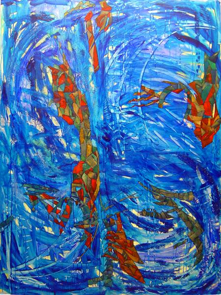 125 X 170 cm. técnica mixta sobre madera. 2003.