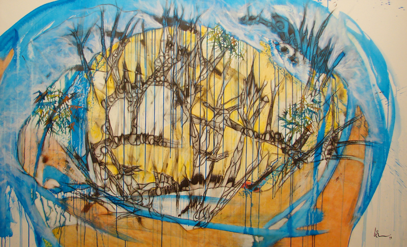 200 x 115 cm. acrílico sobre tela. 2011.